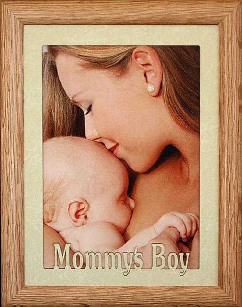 Mommy Frames: 5x7 JUMBO MOMMY'S BOY Photo Frame Holds A 5x7 Photo