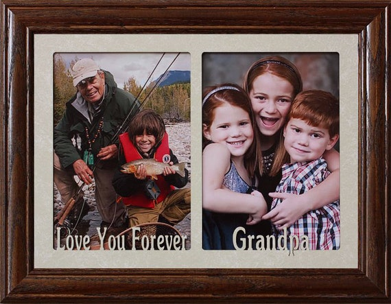 5x7 Jumbo Double Love You Forever Grandpa Photo Frame Holds Etsy