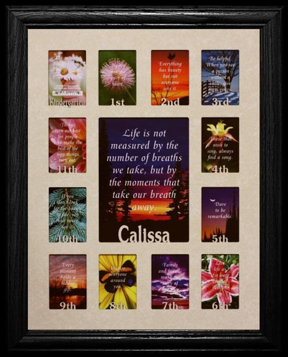 12x16 Personalized K 12th Grade School Yearsdays Frame Etsy