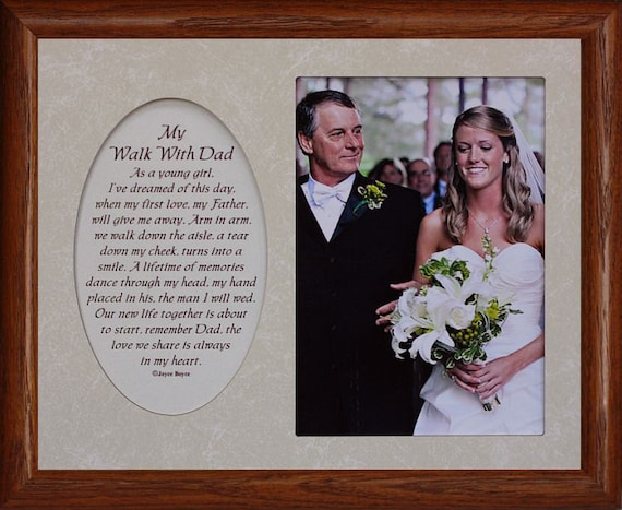 8x10 My WALK WITH DAD ~ Photo & Poetry Frame w/Cream Mat ~ Holds 5x7 ...