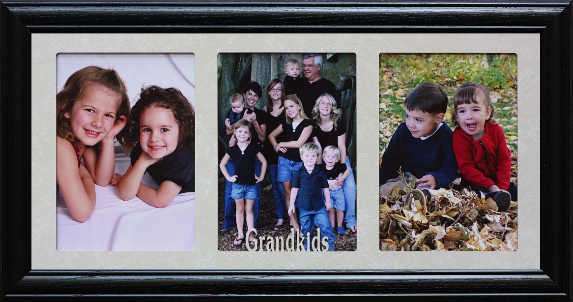 5x7 JUMBO™ GRANDKIDS Triple Photo Frame Holds 3 Portrait 5x7 | Etsy