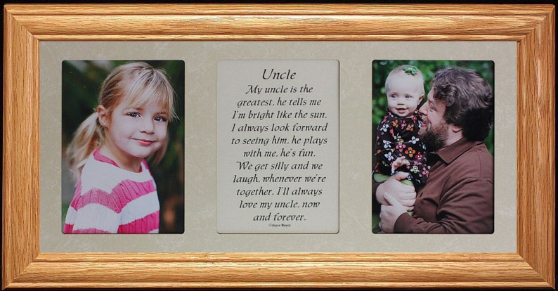 7x15 UNCLE Poetry /& Photo 2-Opening ~ Gift for a Favorite Uncle from a NIECE or NEPHEW!