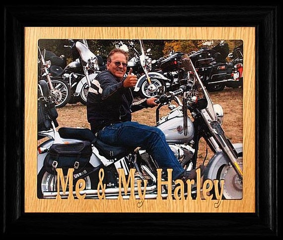 8x10 Me My Harley Landscape Picture Frame Wonderful Gift Etsy