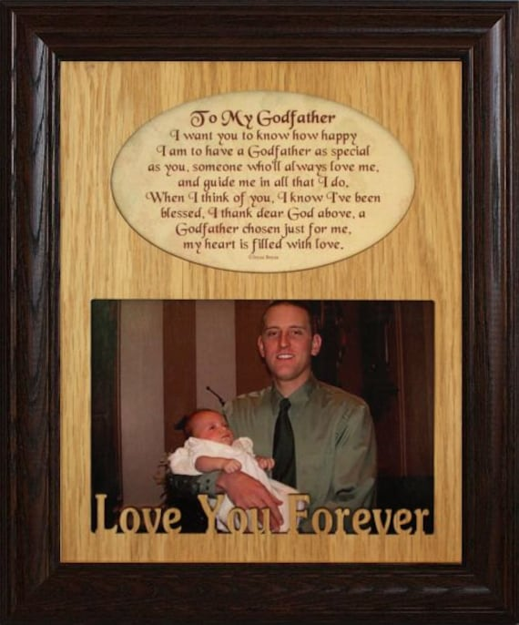 8x10 To My GODMOTHER/GODFATHER or GODPARENTS ~ Photo & Poetry Frame ...