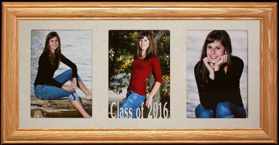 7x15 Class Of 2019 Or Any Year Triple Photo Frame Gift For Etsy