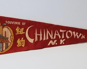 Chinatown, New York City - Vintage Pennant