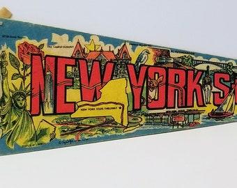 New York State - Vintage Pennant
