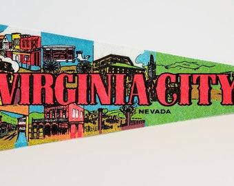 Virginia City, Nevada - Vintage Pennant