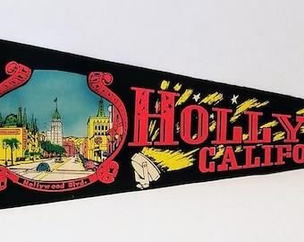 Hollywood, California - Vintage Pennant