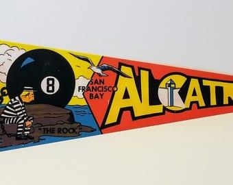 Alcatraz, San Francisco Bay - Vintage Pennant