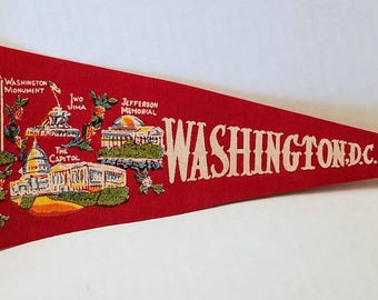 Washington D.C. - Vintage Pennant