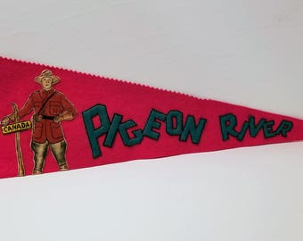 Pigeon River, Canada - Vintage Pennant