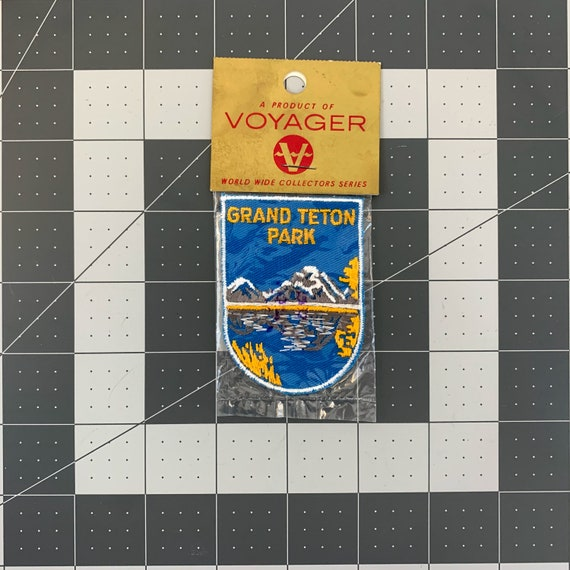 Grand Teton Park - Vintage Patch for Jackets, Back