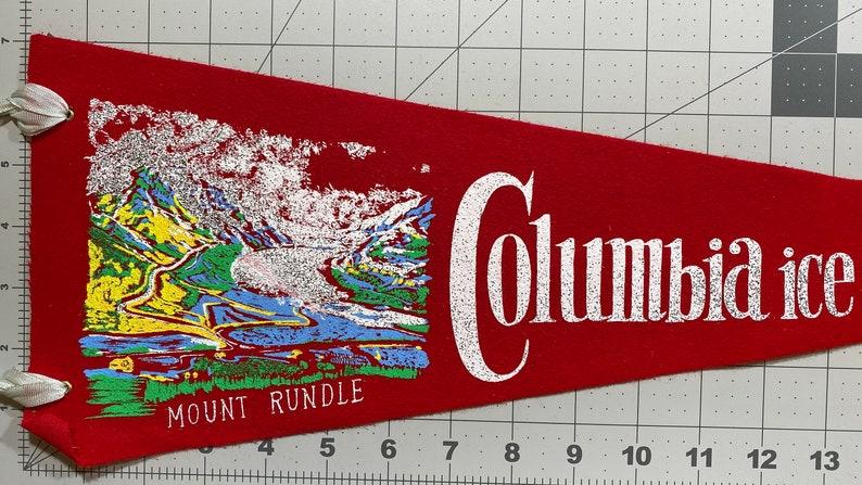 Canada Pendant Souvenir Vintage Pennant Alberta Childhood Memory Columbia Icefields Gift Jasper Park Flag