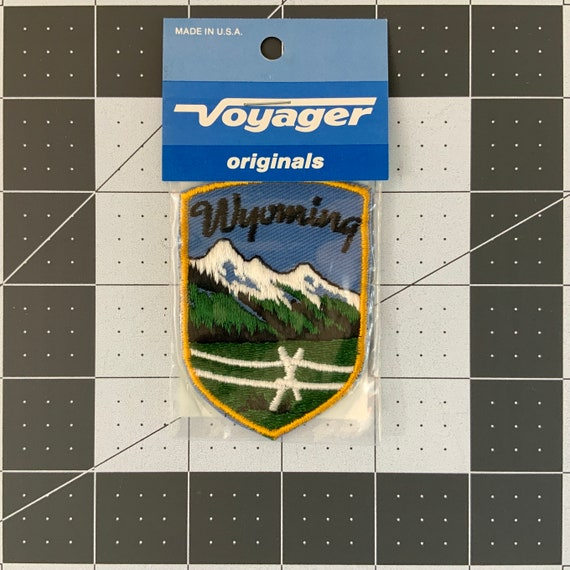 Wyoming - Vintage Voyager Patch for Jackets, Backp