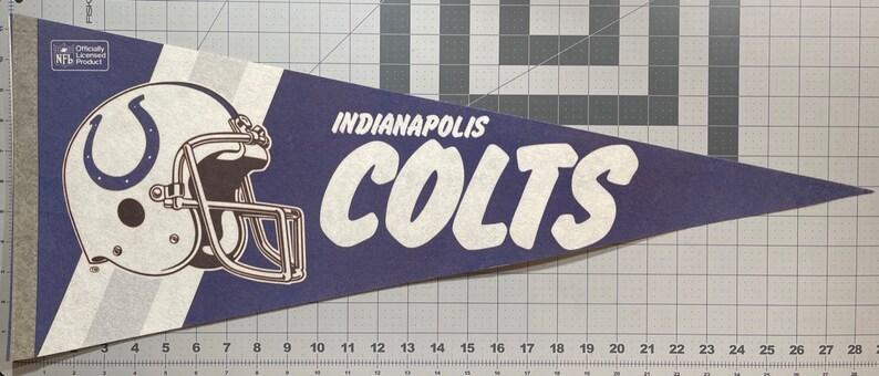 Gift Indianapolis Colts Pendant Flag Vintage Pennant Childhood Memory Souvenir