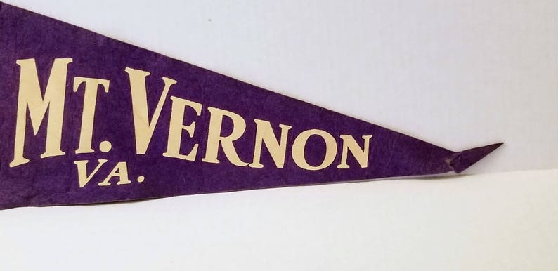 Vintage Pennant Mount Vernon Virginia