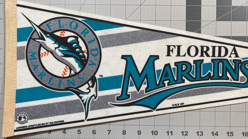 Pendant Vintage Pennant Florida Marlins Souvenir Flag Childhood Memory Gift