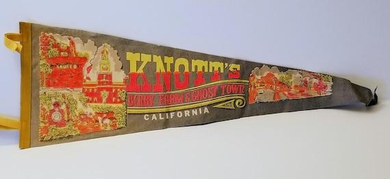 Knott/'s Berry Farm Ghost Town California Vintage Pennant