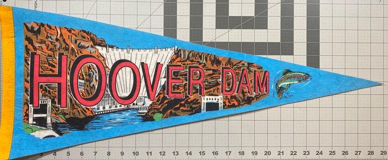 Flag Pendant Vintage Pennant Gift Childhood Memory Hoover Dam Souvenir