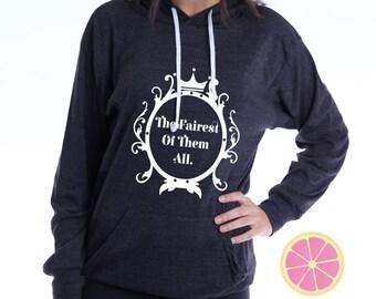 The fairest of them all Disney hoodie.Pink Lemonade . Mirror Mirror  Hoodie. Disney top. Made by Pinklemonadeapparel.