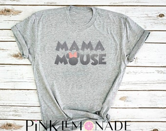 Minnie. Mama Mouse. Mama Mouse T-Shirt. theme park inspired T-shirt. Disney shirt made by Pink Lemonade Apparel