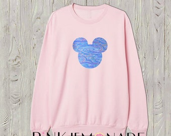 Mickey Sweatshirt .Theme park crew neck sweatshirt. Boyfriend sweatshirt. Sweatshirt Dress. Women's loose sweatshirt. Made by