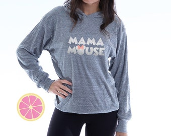 MAMA MOUSE. Mama Mouse Hoodie. Disney Hoodie. Minnie Mouse hoodie. Disney inspired.  Theme parkt Hoodie. Made by Pink lemonade apparel.