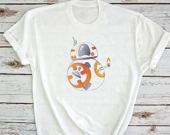 BB8. Star Wars Shirt. BB8 Shirt. BB8 T-shirt. Mandalorian shirt. Mandalorian t-shirt. made by Pink Lemonade Apparel