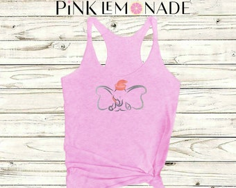 DUMBO. Disney shirt. Disney tank. Dumbo shirt .Disney tee. Disney tank top. Dumbo tank top. Disney vacations shirts. by PinkLemonadeApparel.