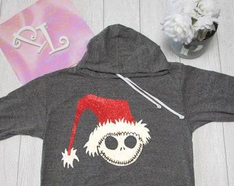 Jack Christmas  Hoodie The nightmare before Christmas hoodie. Christmas. Pink Lemonade Hoodie. Light Weight Hoodie. Made by Pinklemonade.net