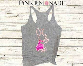 PIGLET.Disney shirt. Piglet tank. Winnie the pooh shirt. Disney tank top. Disney shirts. by PinkLemonadeApparel.