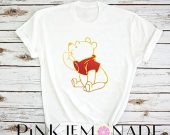 WINNIE THE POOH T-shirt. Disney t-shirt- Womens Disney Shirt. Pooh shirt. Disney shirt.  made by Pink Lemonade Apparel