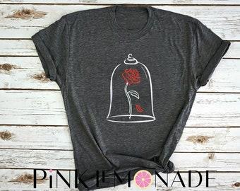 BELLE. Beauty and the Beast T-shirt. Disney t-shirt. Belle Shirt. Princess Belle t-shirt. Disney princess t-shirt. Pink Lemonade Apparel
