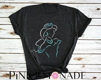 JASMINE. Aladdin  T-shirt. Disney t-shirt. Jasmine Shirt. Princess Jasmine t-shirt. Disney princess t-shirt. Pink Lemonade Apparel