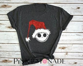 JACK SKELLINGTON.Sandy Claws. Nightmare Before Christmas.Disney Halloween party.Disney Haunted Mansion.Disney shirt.Pink Lemonade Apparel