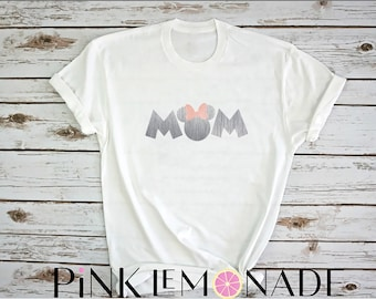 Minnie. Mama Mouse. Mom Minnie T-Shirt. Minnie inspired T-shirt.Mother's Day Gift. Disney shirt made by Pink Lemonade Apparel