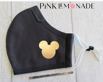 Mask. Mickey Hologram Gold mask.Face Mask Washable Face Mask, Face Mask with filter. Adult Face Mask. Disney Face Mask.PinkLemonadeApparel