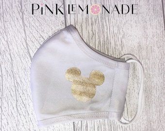 Mask. Face Mask Washable Face Mask, Face Mask with filter. Adult Face Mask Mickey Mouse Face Mask. Mickey Mouse mask.Pink Lemonade Apparel