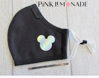 Mask. Mickey Hologram Silver mask.Face Mask Washable Face Mask, Face Mask with filter. Adult Face Mask. Disney Face Mask.PinkLemonadeApparel