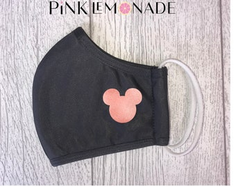 Mask. Face Mask Washable Face Mask, Face Mask with filter.  Adult Face Mask. Mickey mask. made by Pink Lemonade Apparel