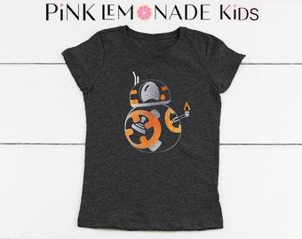 BB8.BB8 Kids T-shirt. Disney kids shirts.BB8 kids Shirt.Star Wars kids shirts. BB8 shirt.Kids Disneyland shirt. Pink Lemonade Apparel