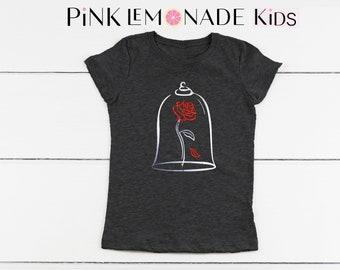 BELLE. Kids T-shirt. Disney kids shirts. Kids Belle Shirt. Princess Belle t-shirt. Kids Disneyland shirt. Pink Lemonade Apparel