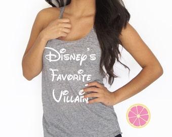 Disney's favorite villain tank top made by Pink Lemonade Apparel.