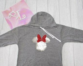 Minnie Mouse. Minnie. Light weight hoodie. Christmas sweater. Minnie Hoodie. Disney Hoodie. Pink Lemonade apparel.
