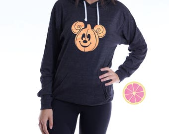 Mickey Halloween  Hoodie. Mickey halloween Pumpkin. Pink Lemonade Hoodie. Light Weight Hoodie. Made by Pinklemonade.net