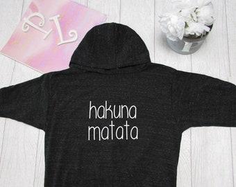 Hakuna Matata Hoodie. Disney  Hoodie. Disney Theme Park inspired  Light Weight Hoodie. Made by Pinklemonade.net