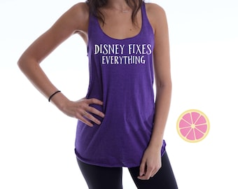Disney Fixes Everything tank top made by Pink Lemonade Apparel.