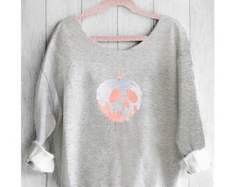 POISON APPLE. Snow White. Disney sweatshirt. Off shoulder Sweatshirt. Snow White sweatshirt. Made by Pink Lemonade Apparel.