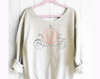 Cinderella. Disney Off shoulder sweatshirt. Cinderella sweatshirt. Princess sweatshirt . Disney sweater. Made by Pink Lemonade Apparel.